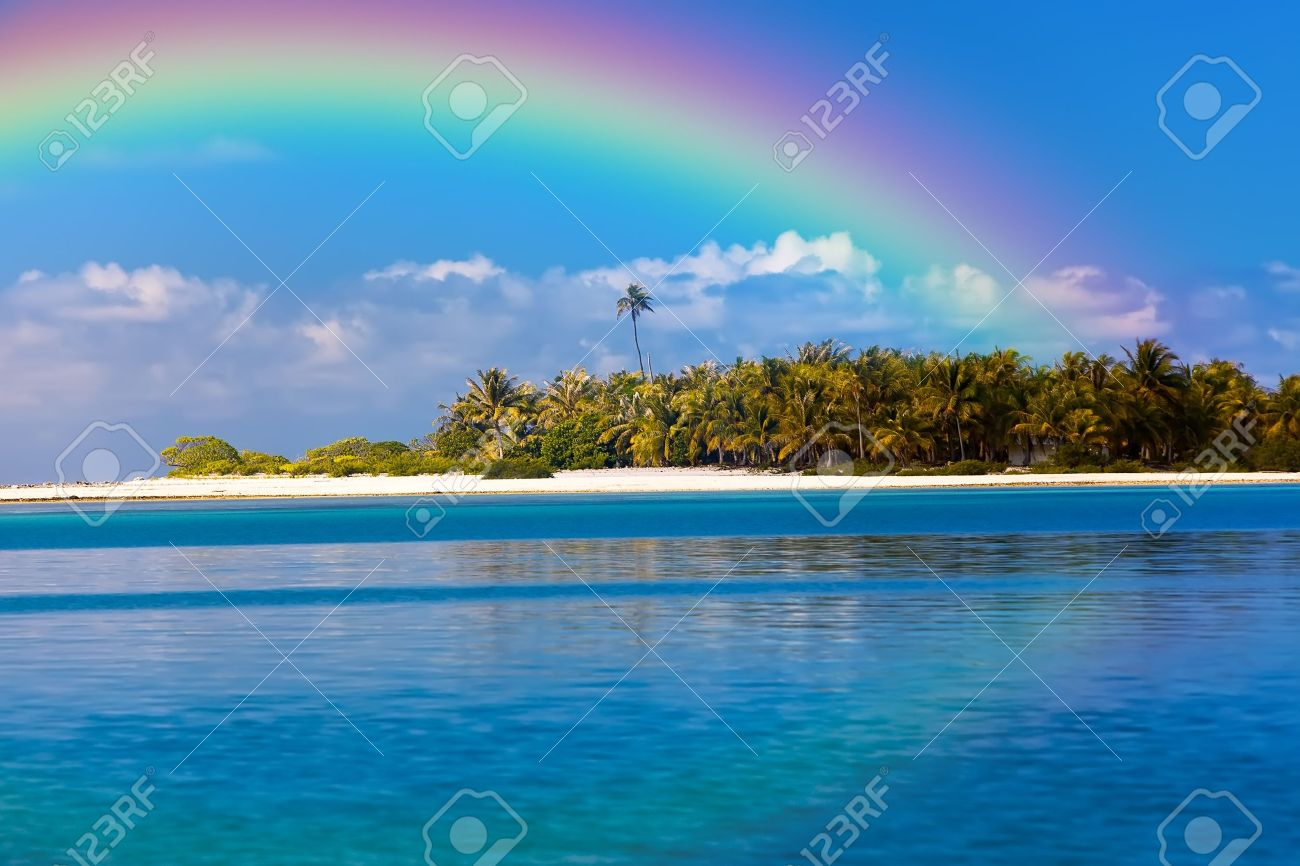 rainbow over the ocean stock photos u0026 pictures royalty free