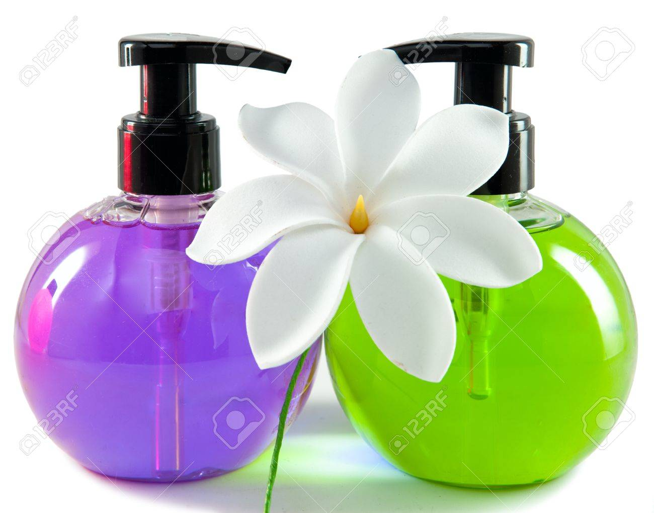 Bright Color Cosmetic Small Bottles With The Dispenser And White