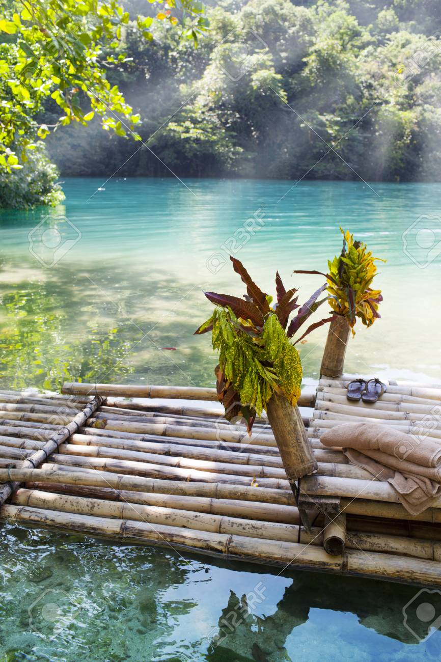 Raft On The Bank Of The Blue Lagoon Jamaica