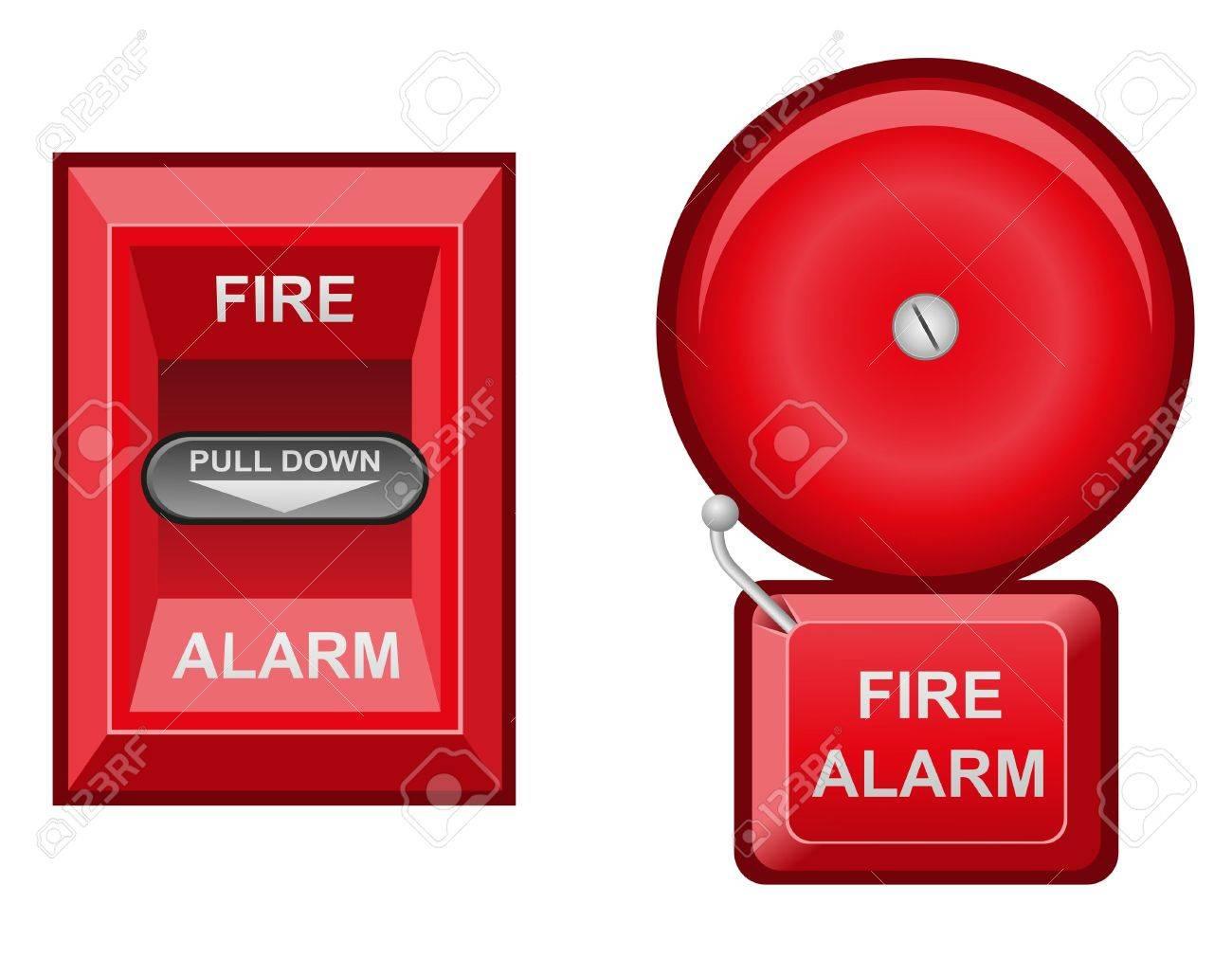 fire alarm vector illustration isolated on white background Stock Illustration - 15801005