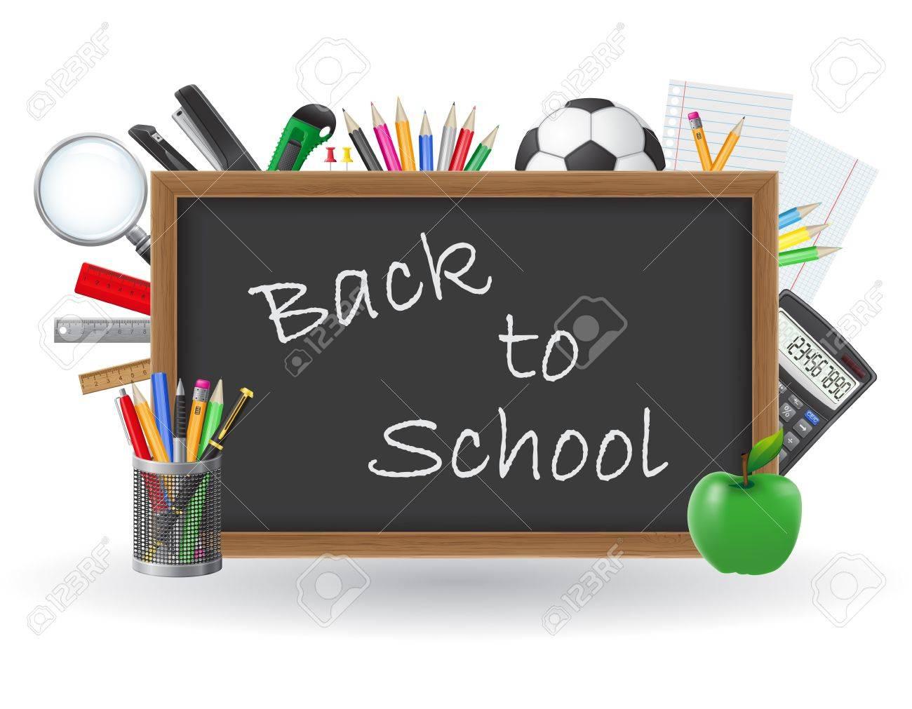 set icons school supplies illustration isolated on white background Stock Illustration - 21532288