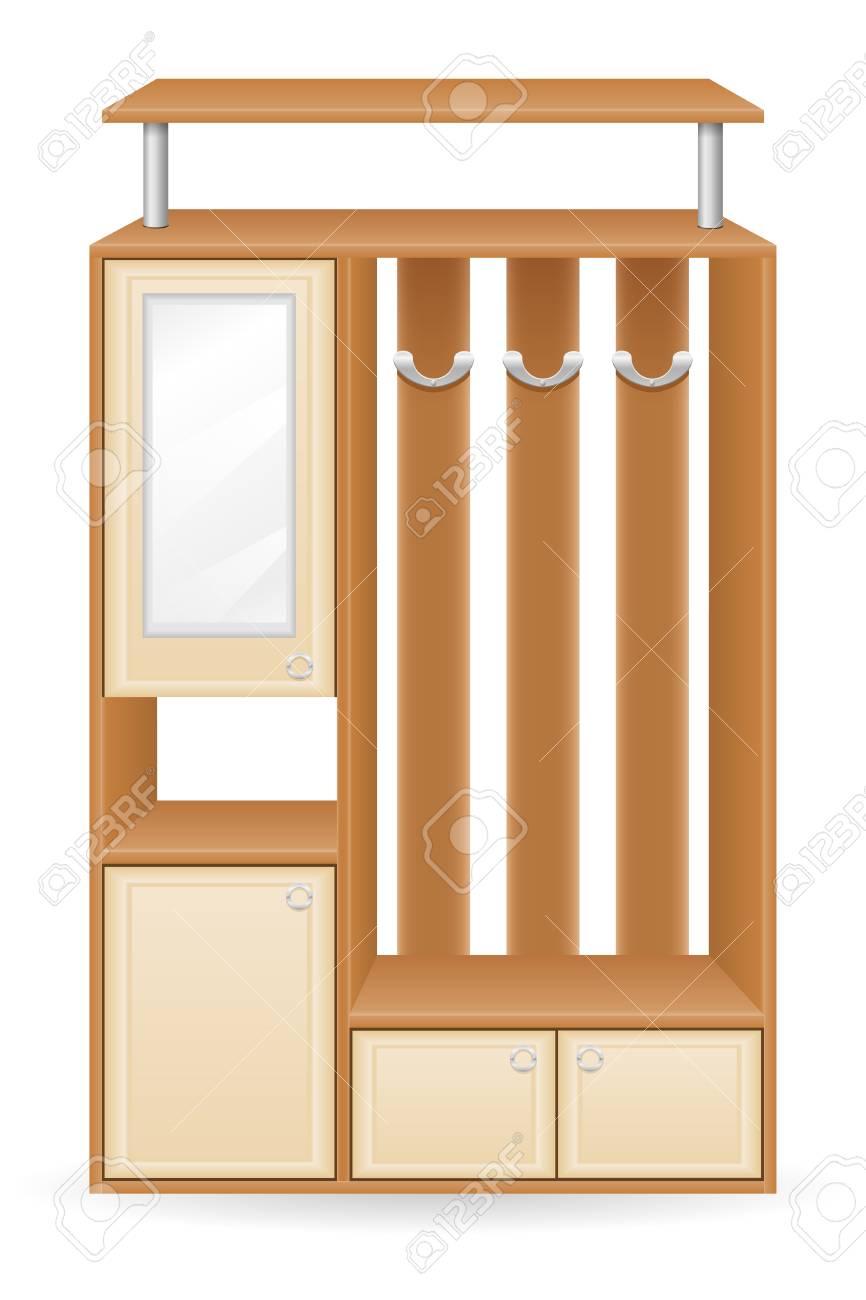 Muebles Pasillo Ilustración Vectorial Aislados En Fondo Blanco Fotos ...