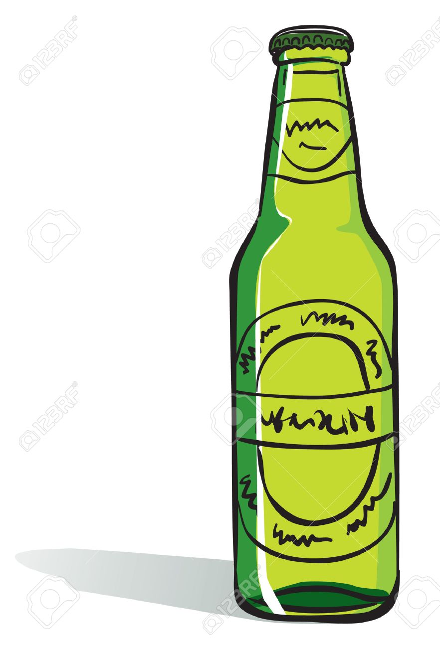 beer bottle royalty free cliparts vectors and stock illustration rh 123rf com cartoon pictures beer bottles black cartoon beer bottle