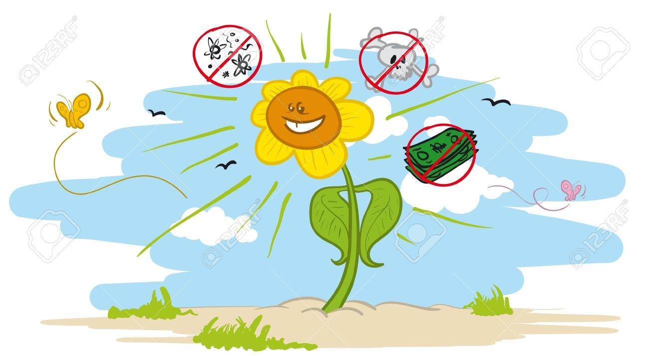 Vector illustration of an healthy plant which is not affected by viruses and chemicals, and which does not cost much to grow Stock Vector - 16194409
