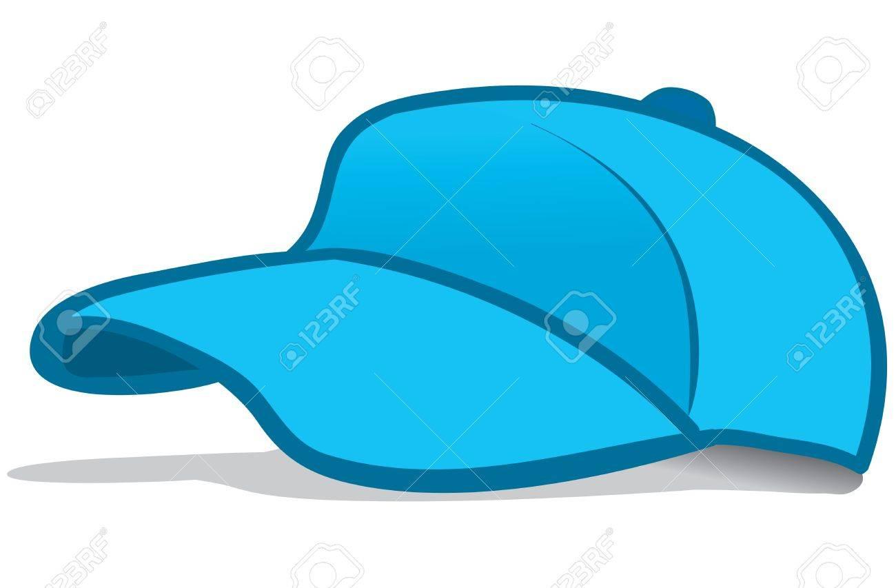 青い野球帽のイラストのイラスト素材ベクタ Image 18293142