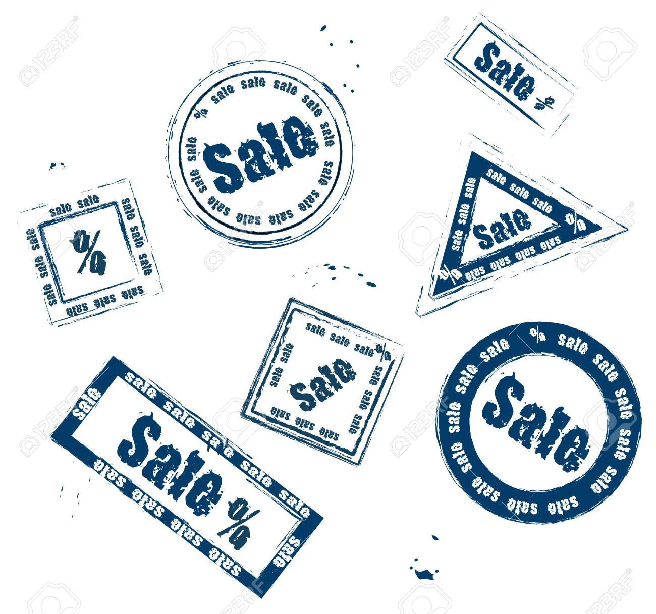 set of different stamps for sale on a white background Stock Vector - 6397503