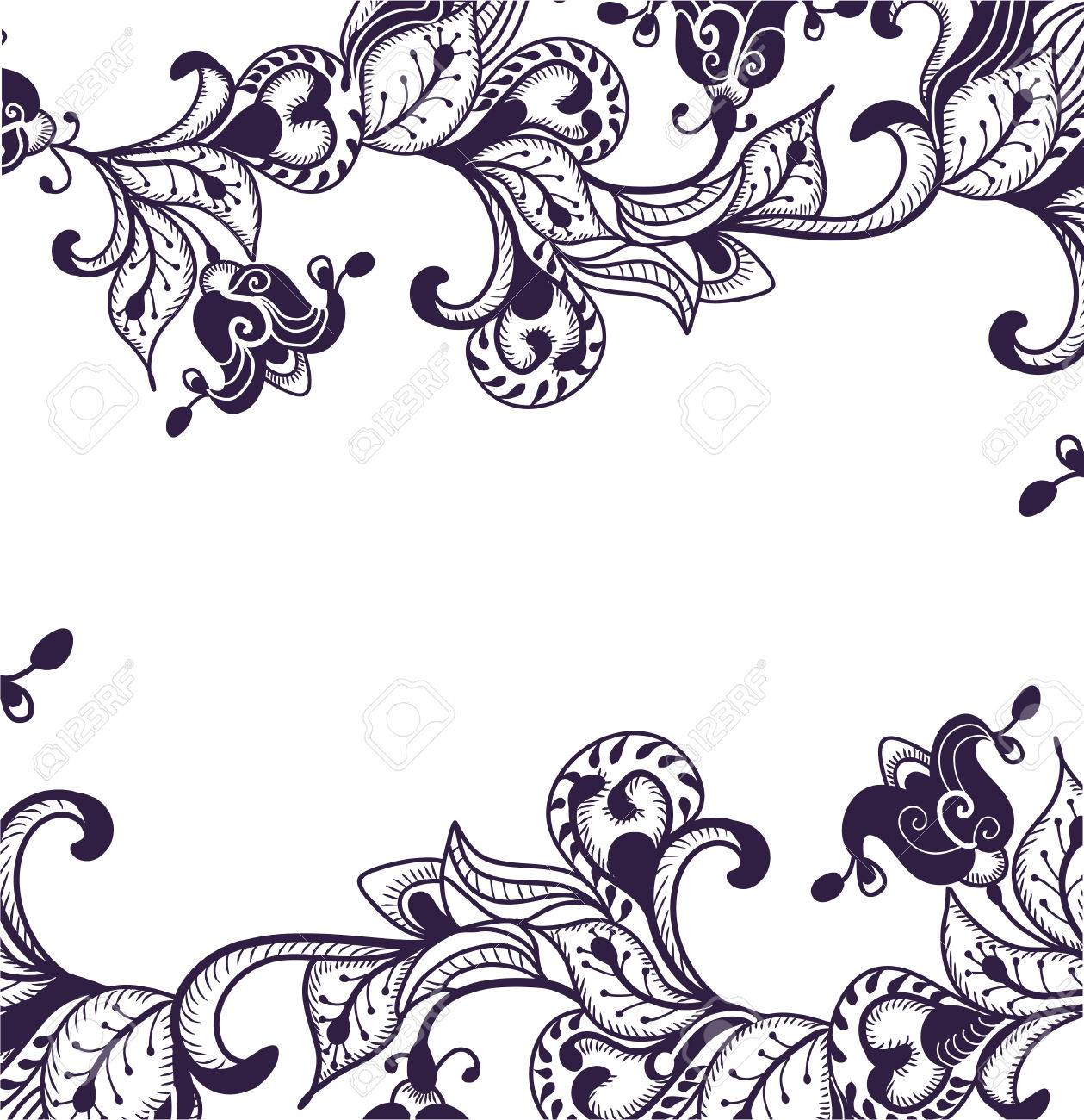 beautiful floral pattern of the various elements Stock Vector - 7696954