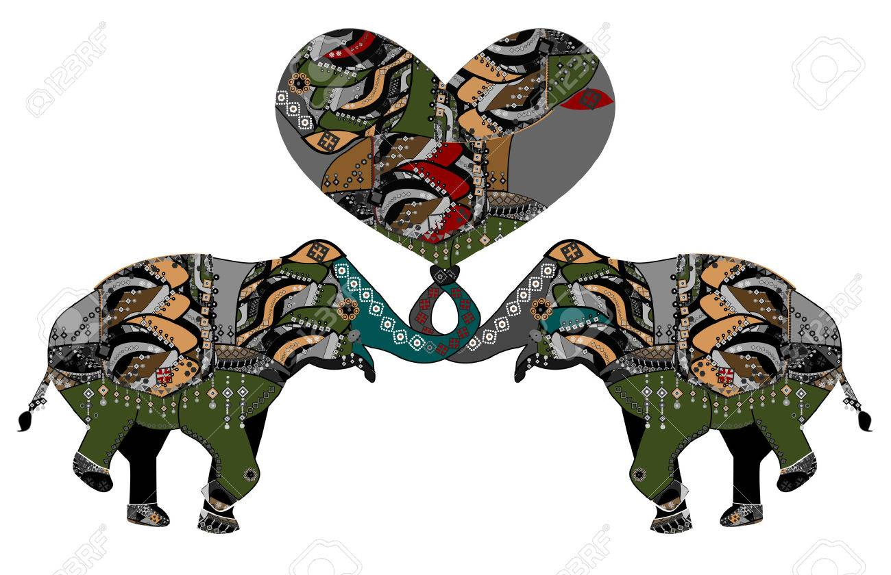 Elephants Are A Good Symbol Of The Family And Tender Love Royalty