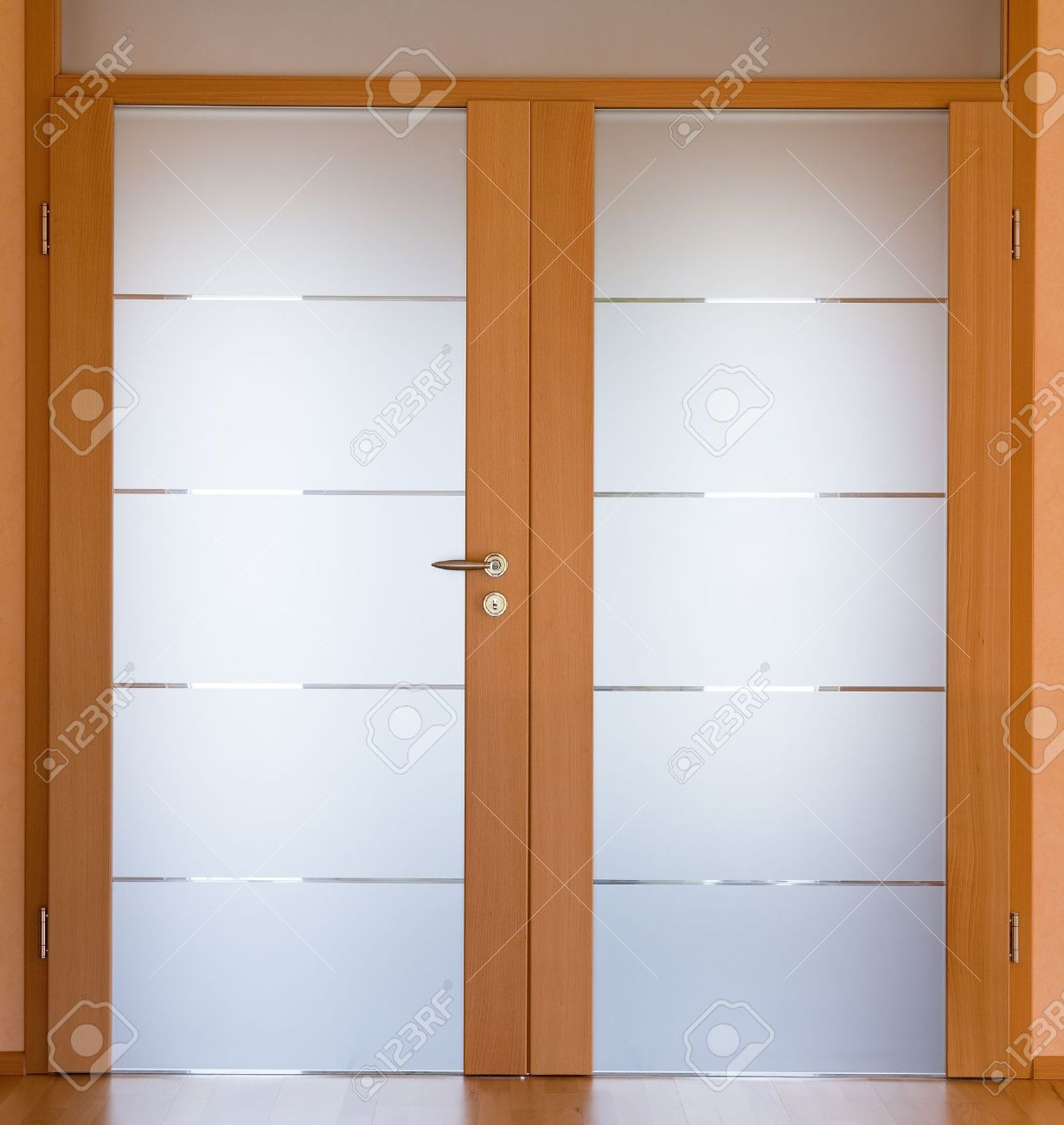 View Of A Modern Living Room Door Stock Photo