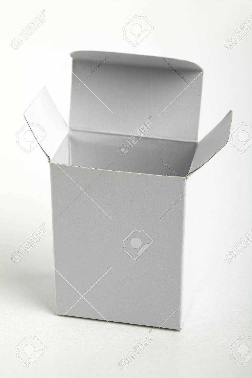 closed white cardboard box. close up of a small white cardboard box isolated on background stock photo closed