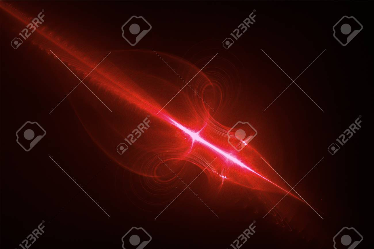red glow energy wave  lighting effect abstract background for