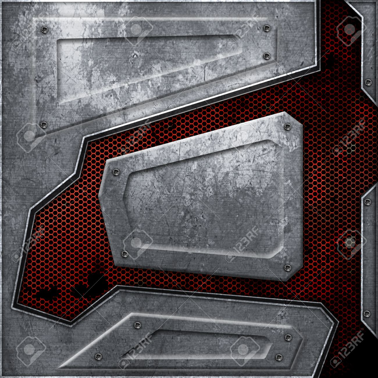 sci fi wall texture. Illustration - Scifi Wall. Rust Metal Wall And Red Mesh. Background Texture 3d Illustration. Technology Concept. Sci Fi G