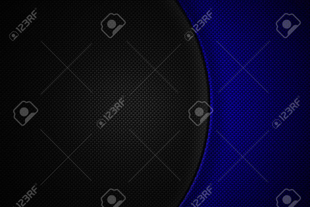 blue and black carbon fiber. two tone metal background and texture. 3d illustration design. - 134721284