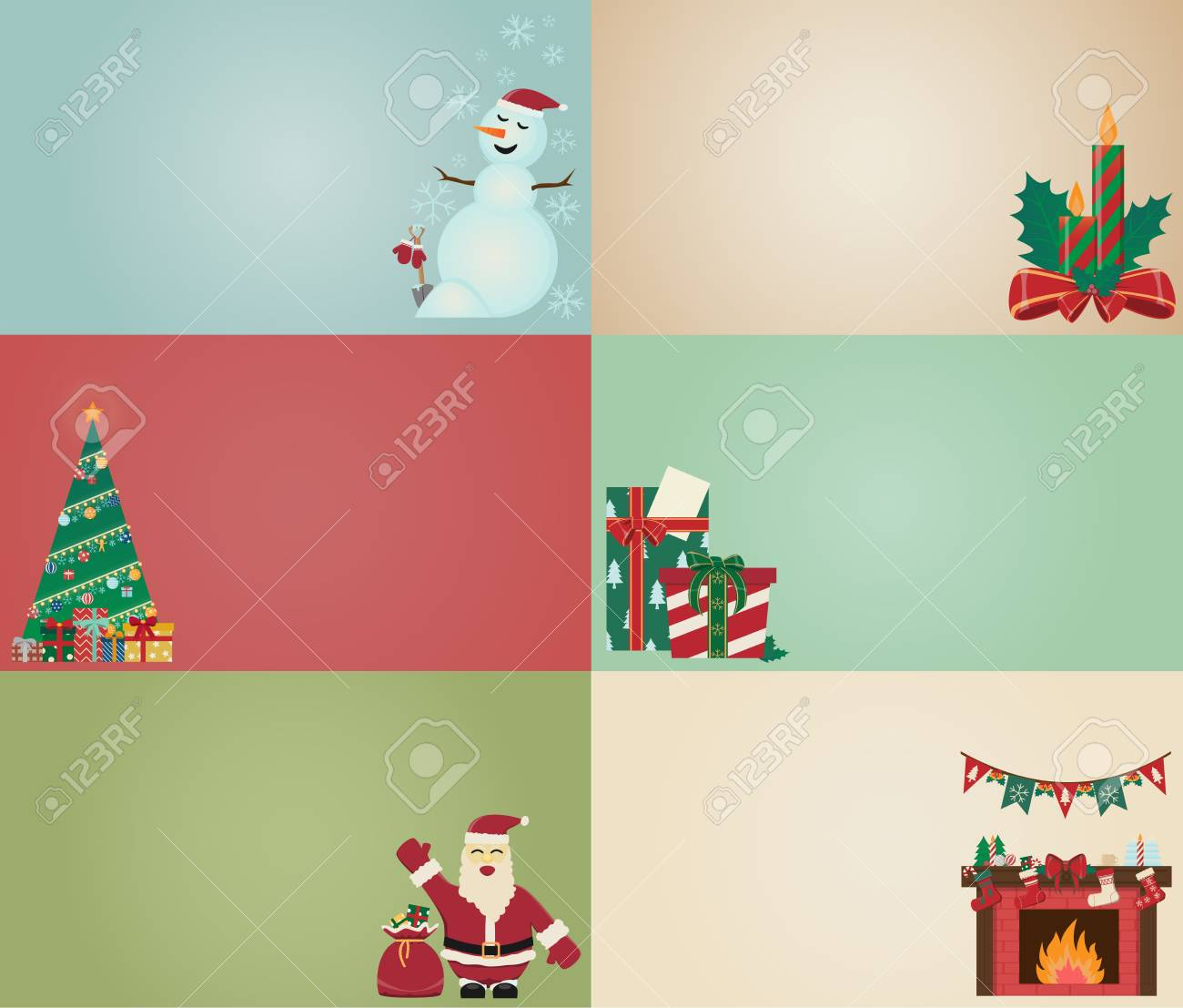 Old Christmas Card Style Old Cartoon Card Royalty Free Cliparts