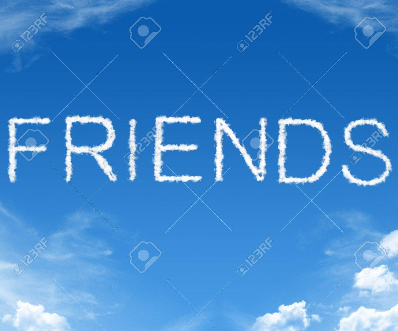 Clouds Forming The Word Friends In The Sky Stock Photo, Picture ...