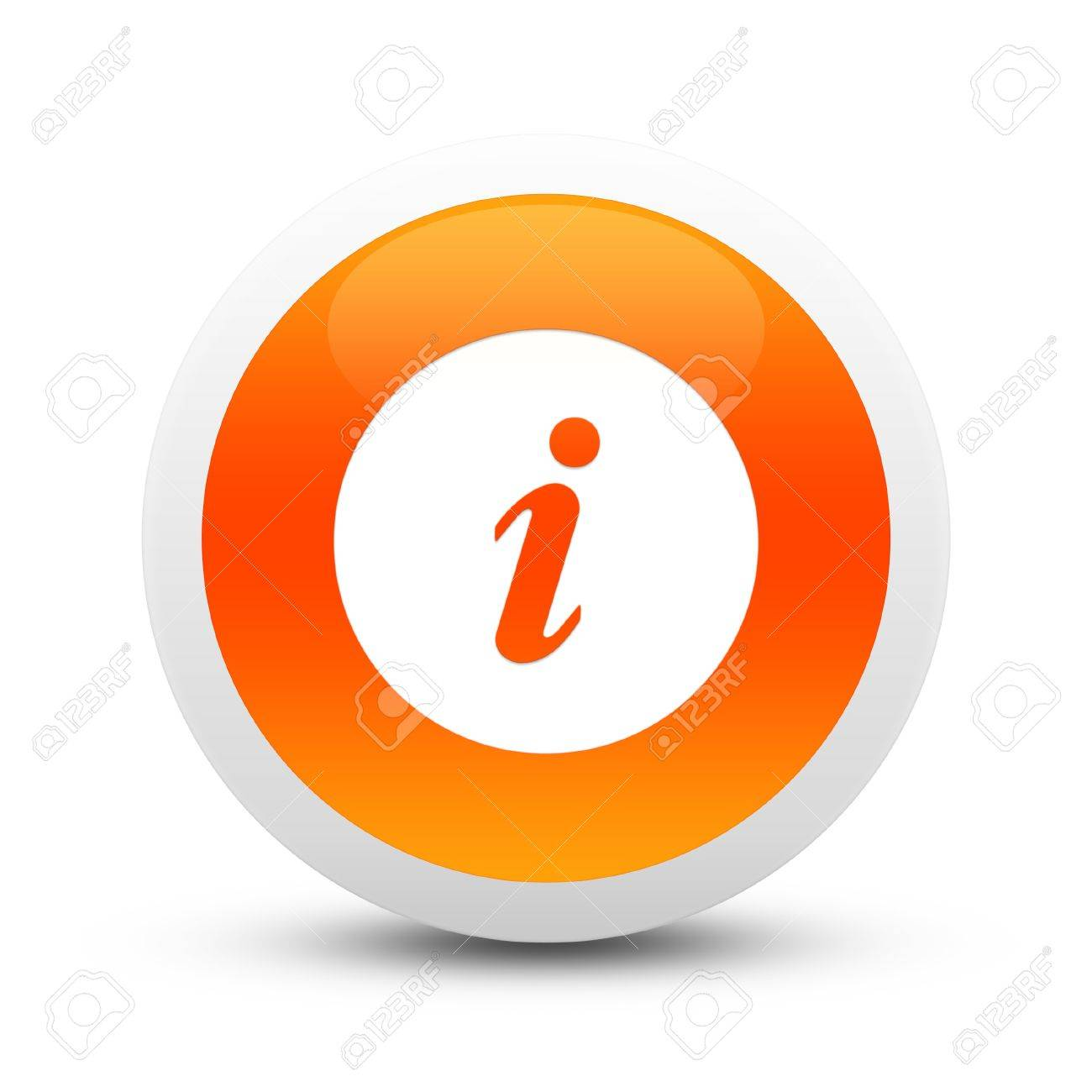 Glossy information button Stock Photo - 20407402