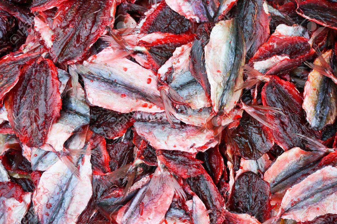 Dried Fish Red Color At See Food Maket Stock Photo, Picture And ...