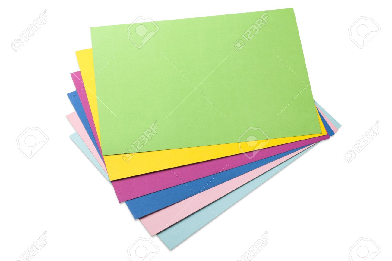 Colored Sheets Of Paper Stock Photo, Picture And Royalty Free Image ...