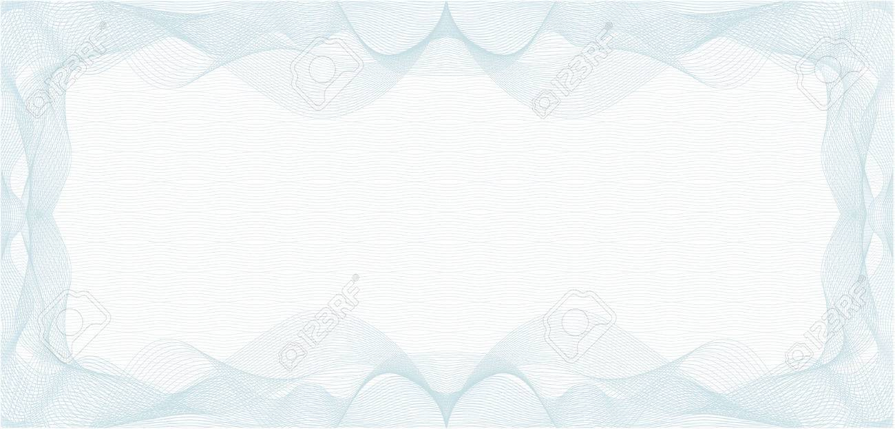 Background For Voucher Gift Certificate Coupon Or Banknote Stock