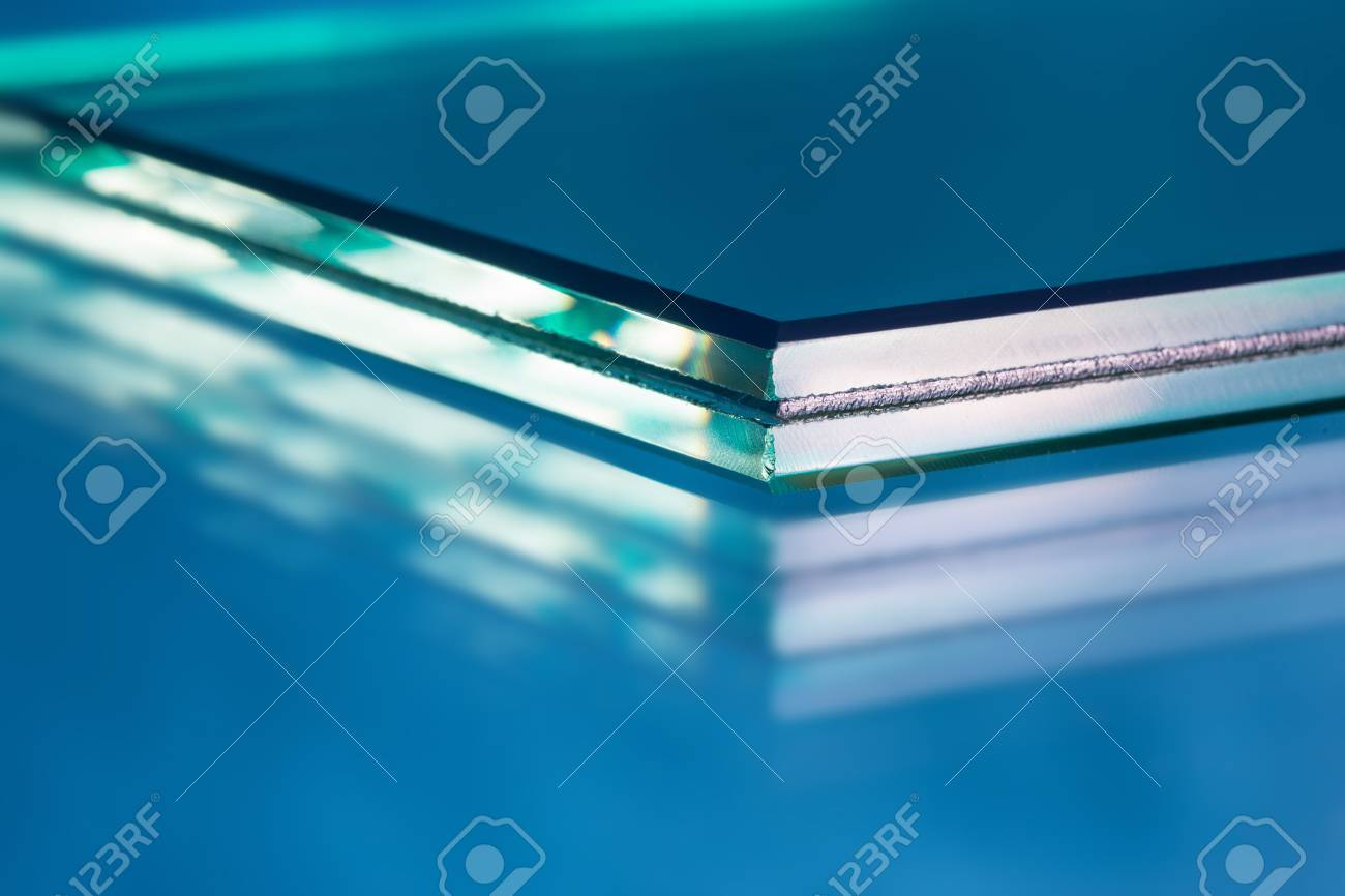 Glass roving fibre for pultrision process. Window fiberglass profile manufacturing. Plate glass, machined edge - 42177914