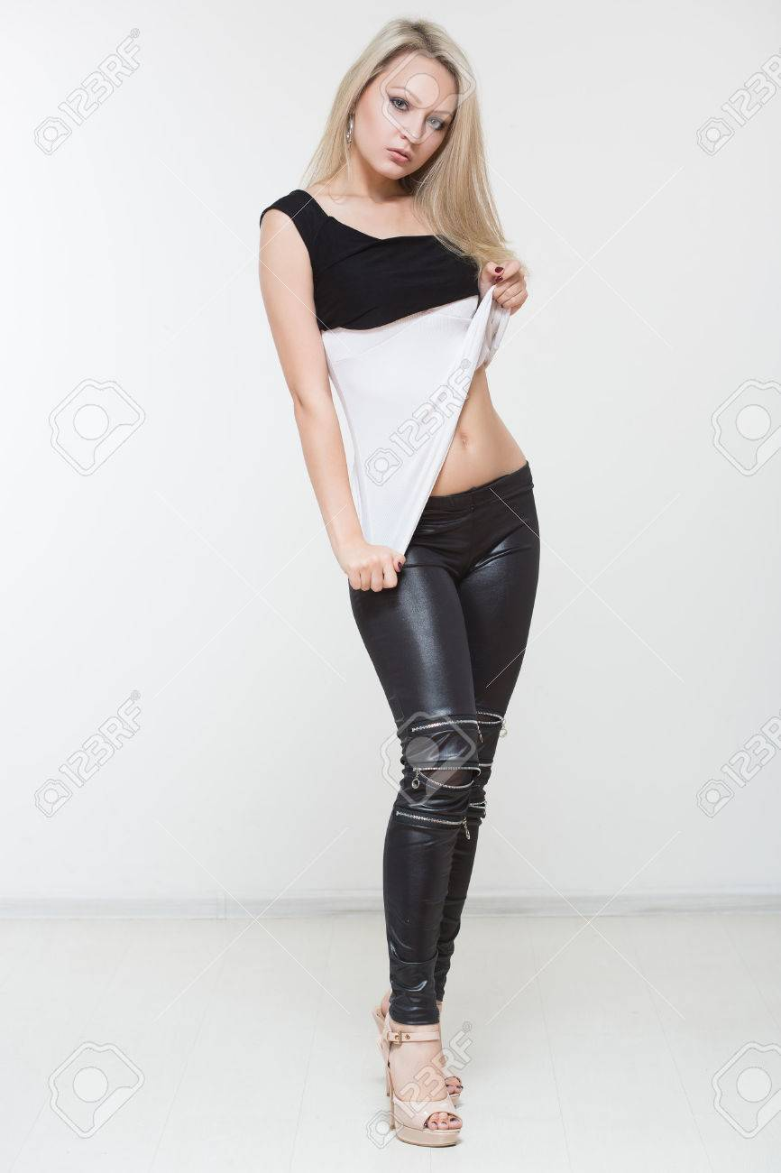 Beautiful muscle leather pants