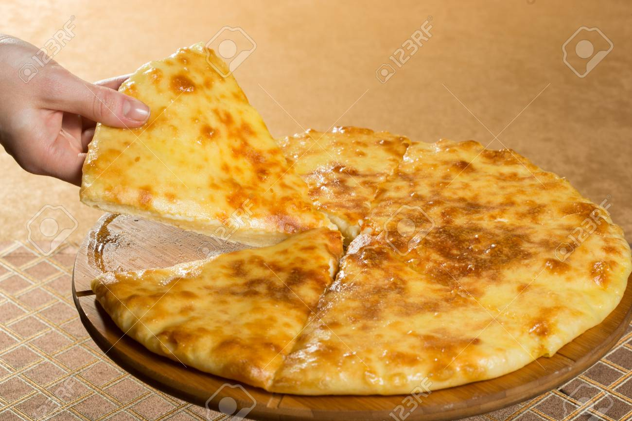 Georgian Khachapuri Megruli With Cheese Golden Pie Stock Photo Picture And Royalty Free Image Image 52087531