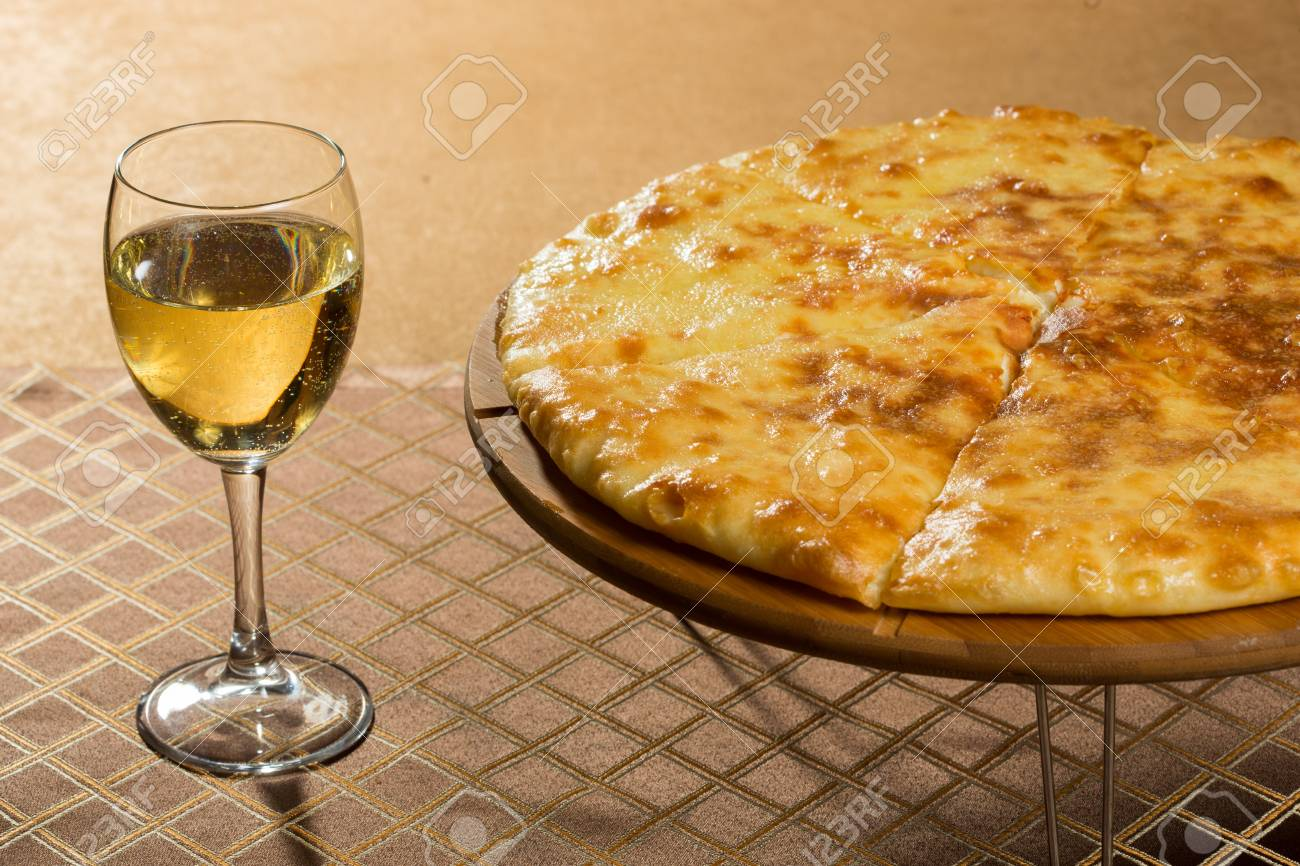Georgian Khachapuri Megruli With Cheese Golden Pie Stock Photo Picture And Royalty Free Image Image 52087538