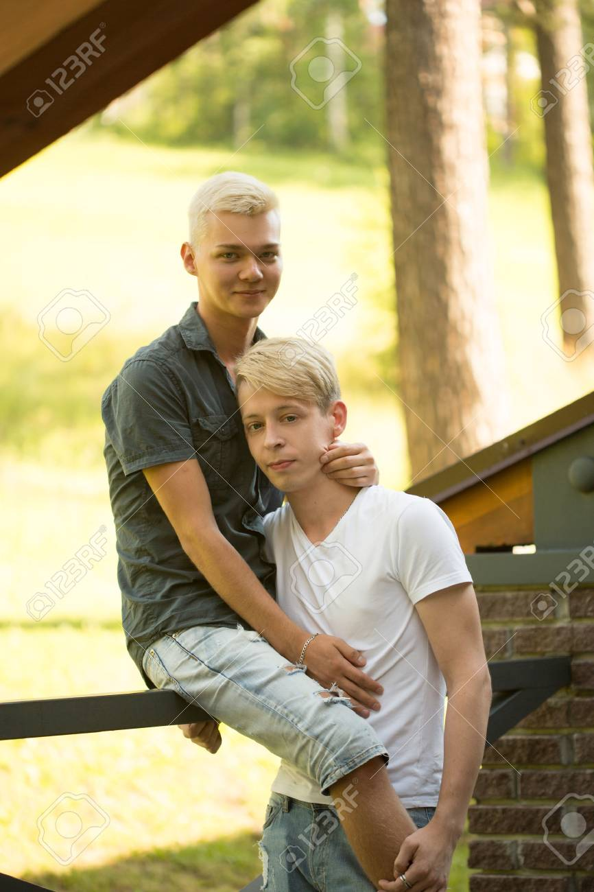 gay young couple