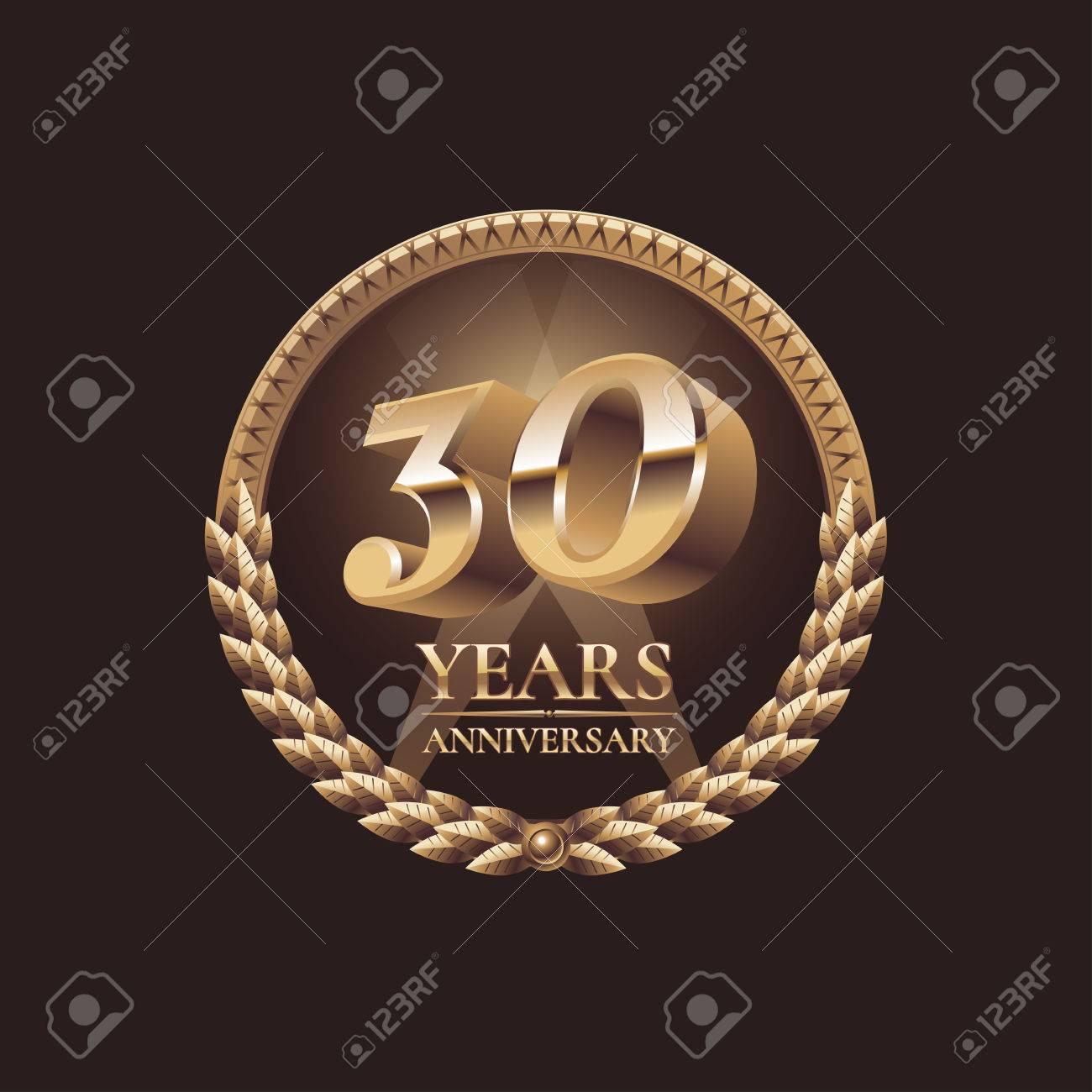 30 years anniversary vector icon 30th celebration design golden 30 years anniversary vector icon 30th celebration design golden jubilee symbol stock vector kristyandbryce Choice Image