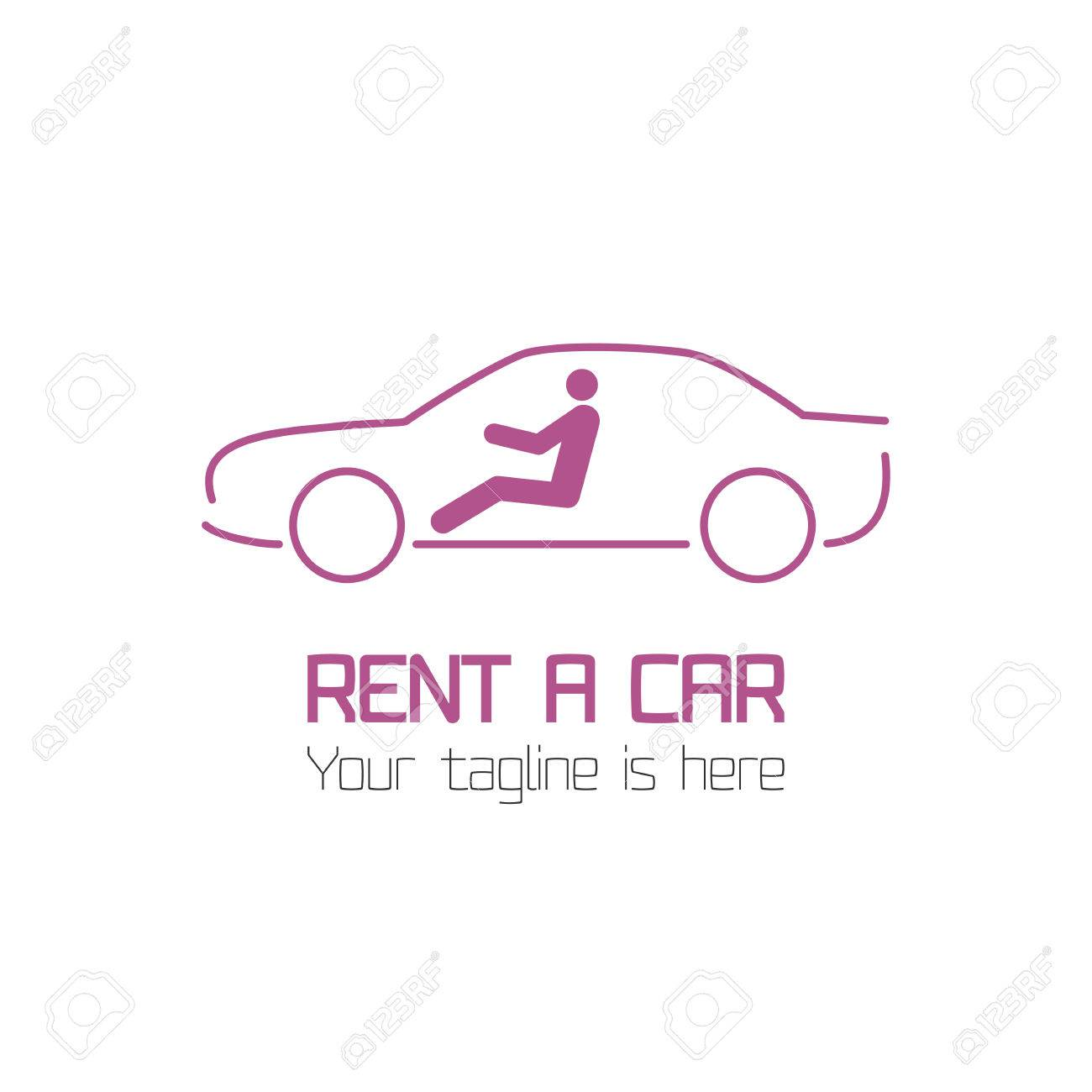 Vector Template Of Car Rental Company Logo Rent A Car Automotive Royalty Free Cliparts Vectors And Stock Illustration Image 54530408
