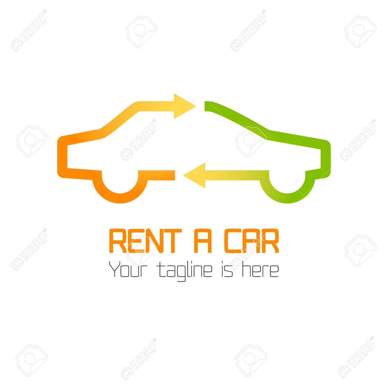 Vector Template Of Car Rental Company Logo Rent A Car Automotive