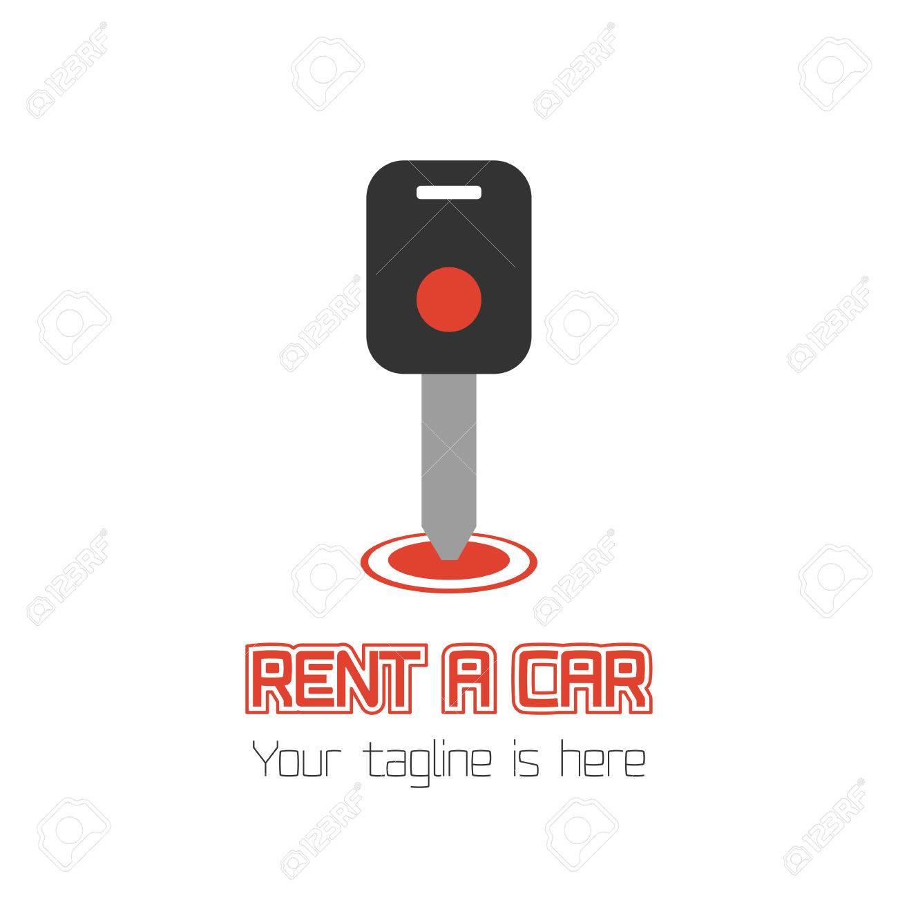 Vector Car Rentals Label. Vector Logo Design Template. Concept ...