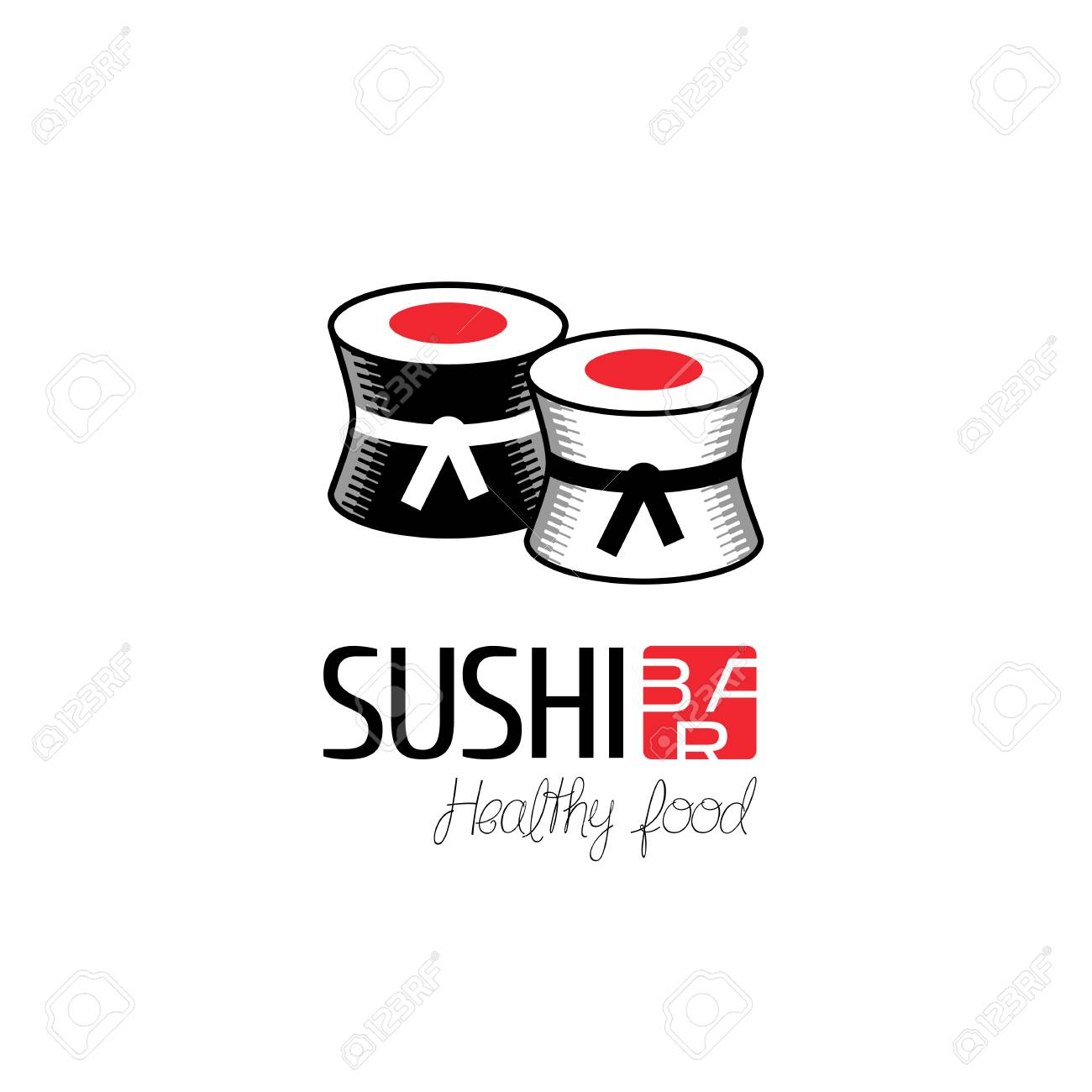 Vector Logo Design Element For Sushi Restaurant Japanese Cuisine Royalty Free Cliparts Vectors And Stock Illustration Image 54644887