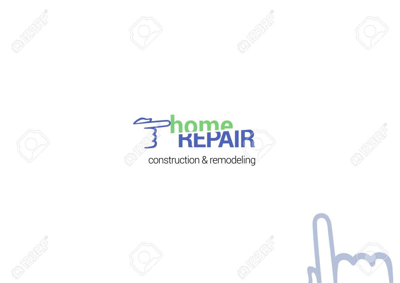 Repair service vector icon, logotype, emblem, badge and decoration