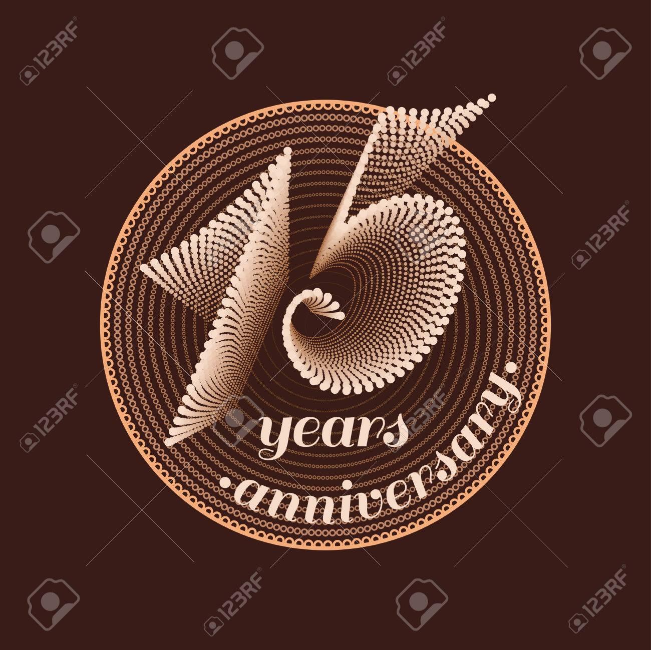 15 Years Anniversary Vector Icon 15th Celebration Design Golden