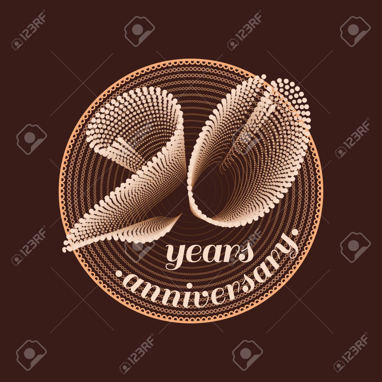 20 Years Anniversary Vector Icon 20th Celebration Design Golden