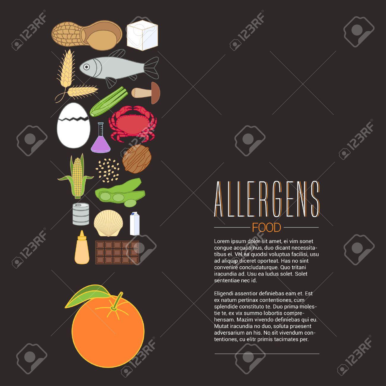 Poster design article - Vector Vector Design Element For Article Banner Poster Template Food Allergen Related Design