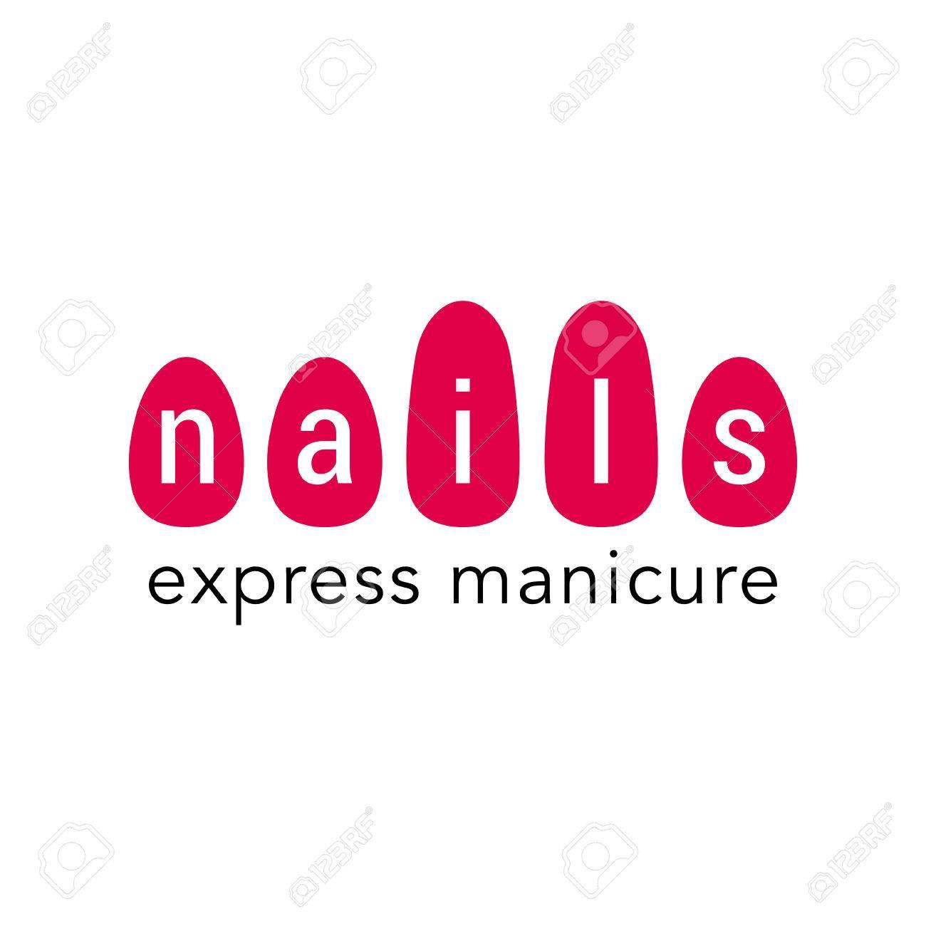 Nails Vector Logo Sign Design Element Illustration For Manicure