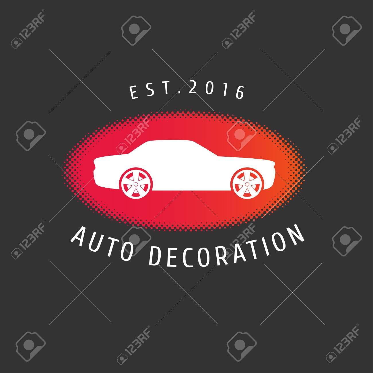 Auto Decoración, Pintura De Coches, Piezas De Repuesto Vector ...