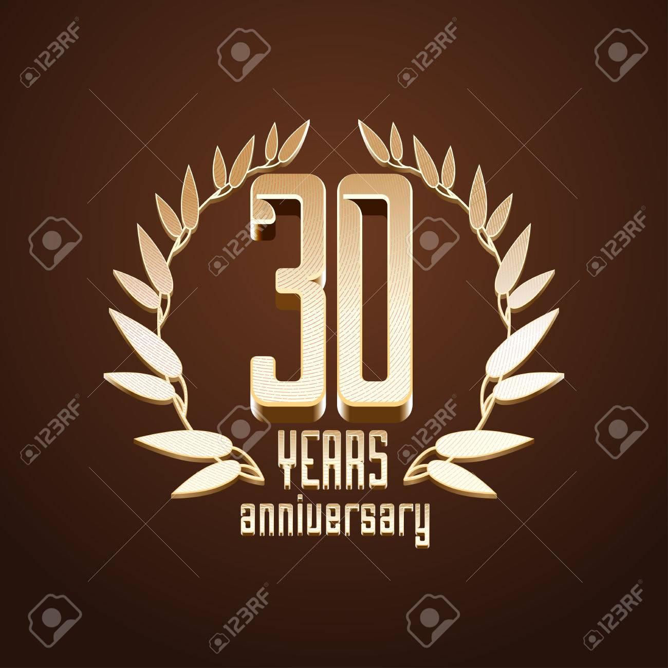 30 Jahre Jubilaum Vektor 30 Geburtstag Alter Klassische