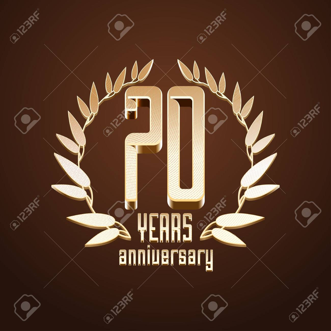 70th Birthday Stock Photos Illustrations And Vector Art - 70 years anniversary vector icon 70th birthday age classic decoration design element
