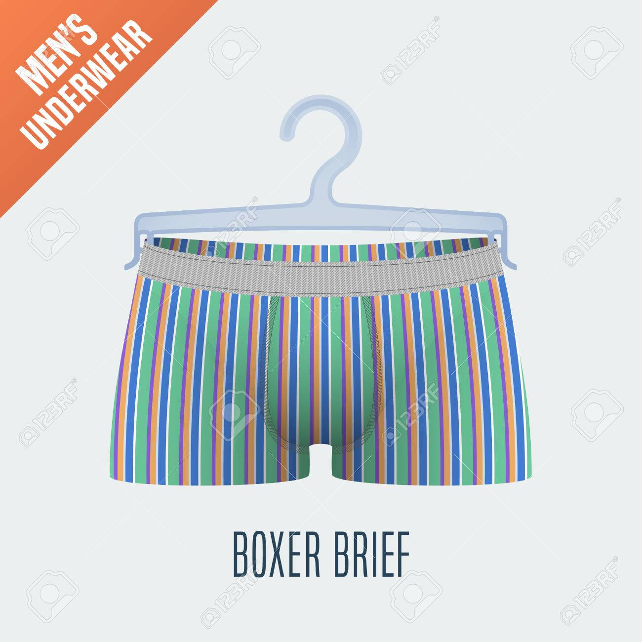 Men s Underwear Vector Illustration. Men Boxer Brief 8733949476e7