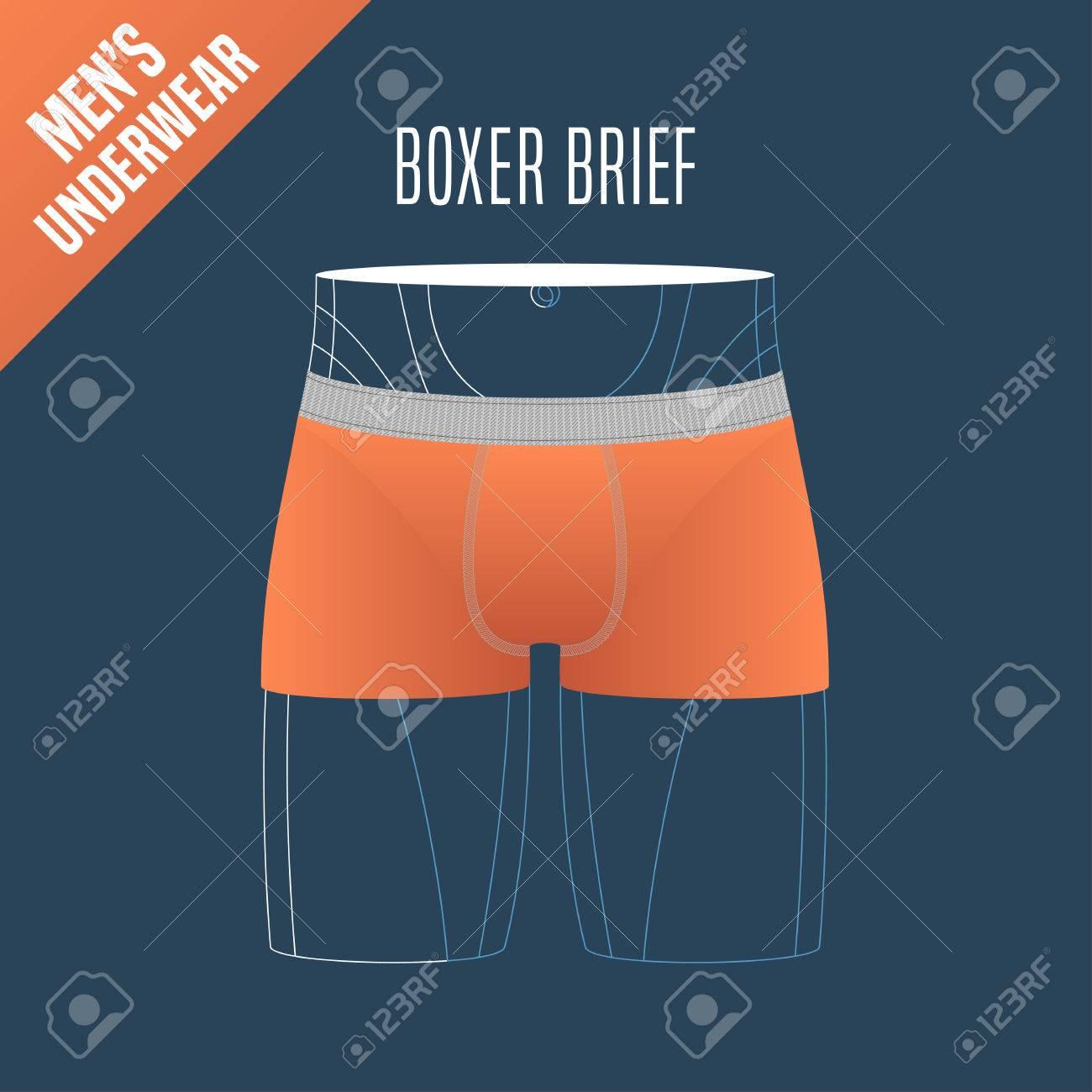 3d4addea719 Men s underwear vector illustration. Design element for boxer brief