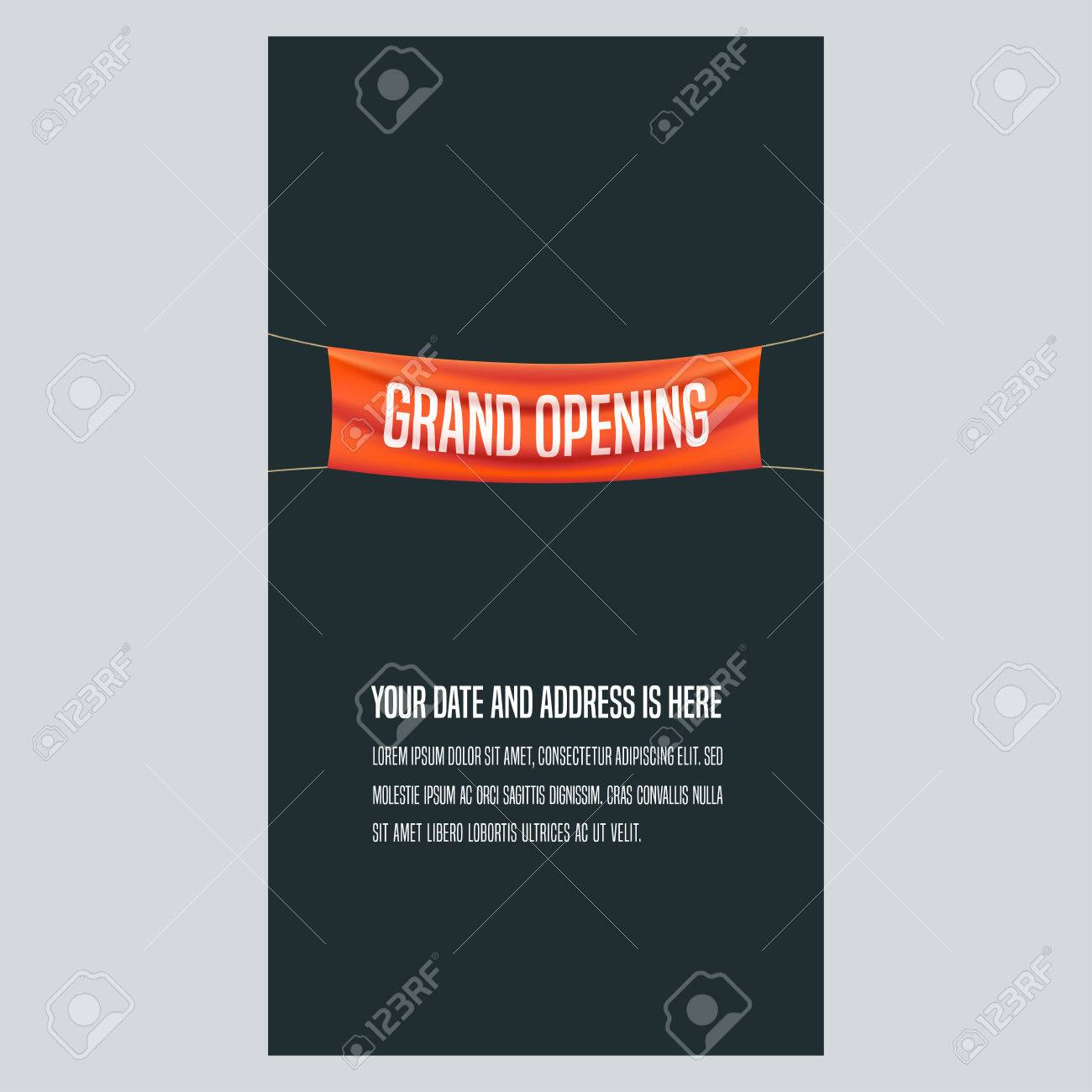 grand opening vertical vector illustration background for new