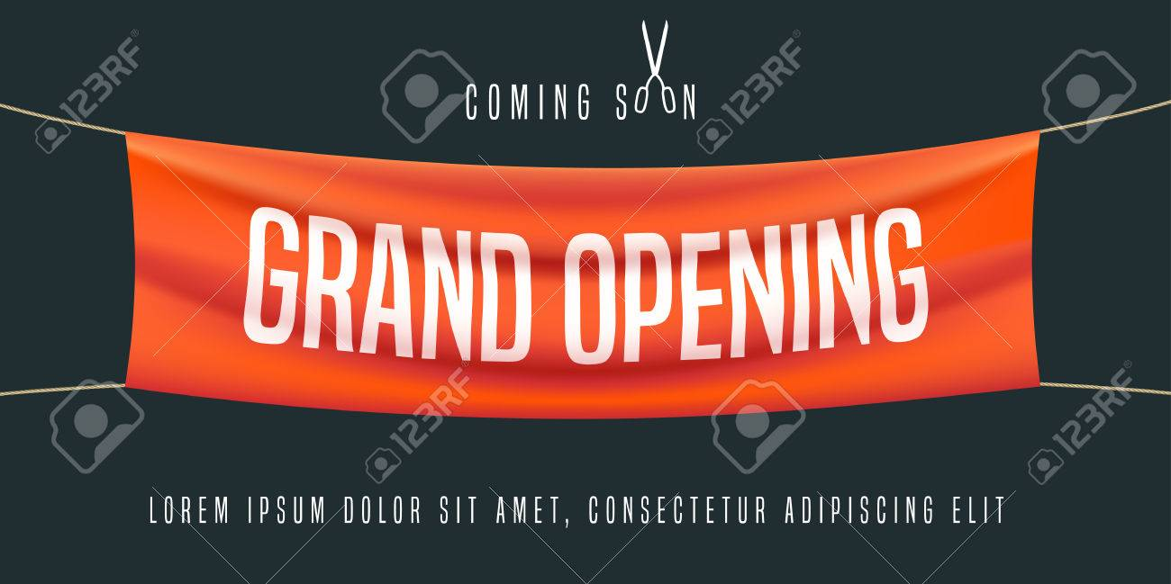 grand opening vector illustration background for new store