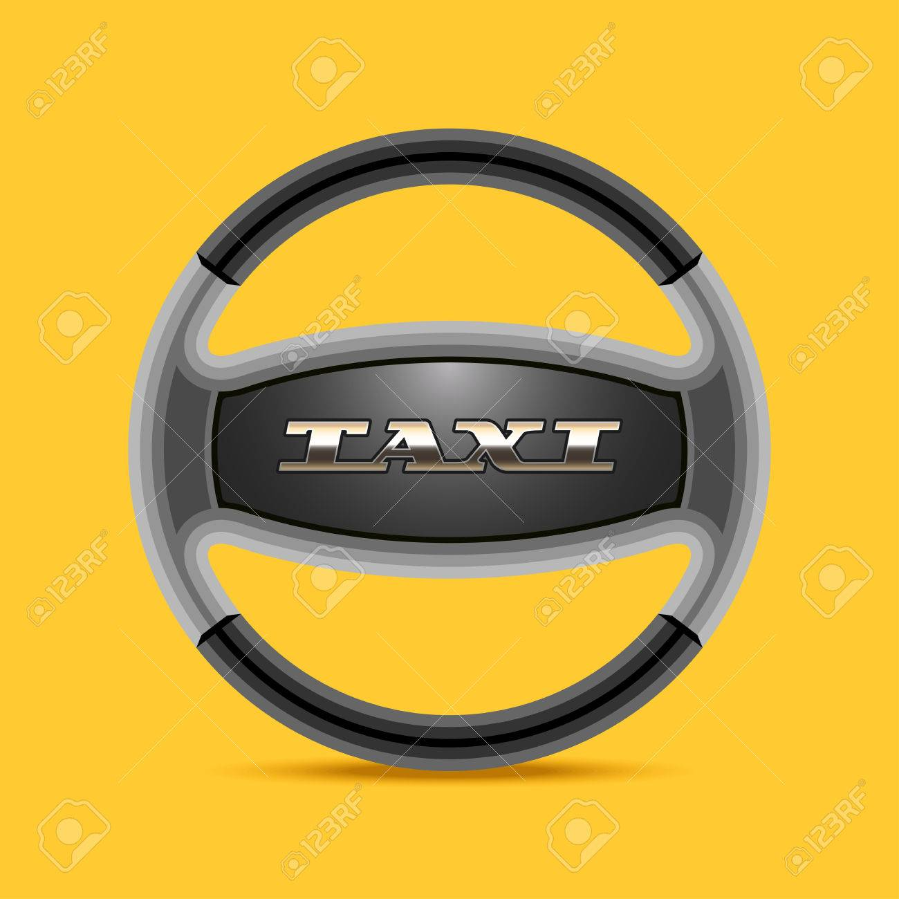 Taxi Cab Vector Icon Background Car Hire Black And Yellow