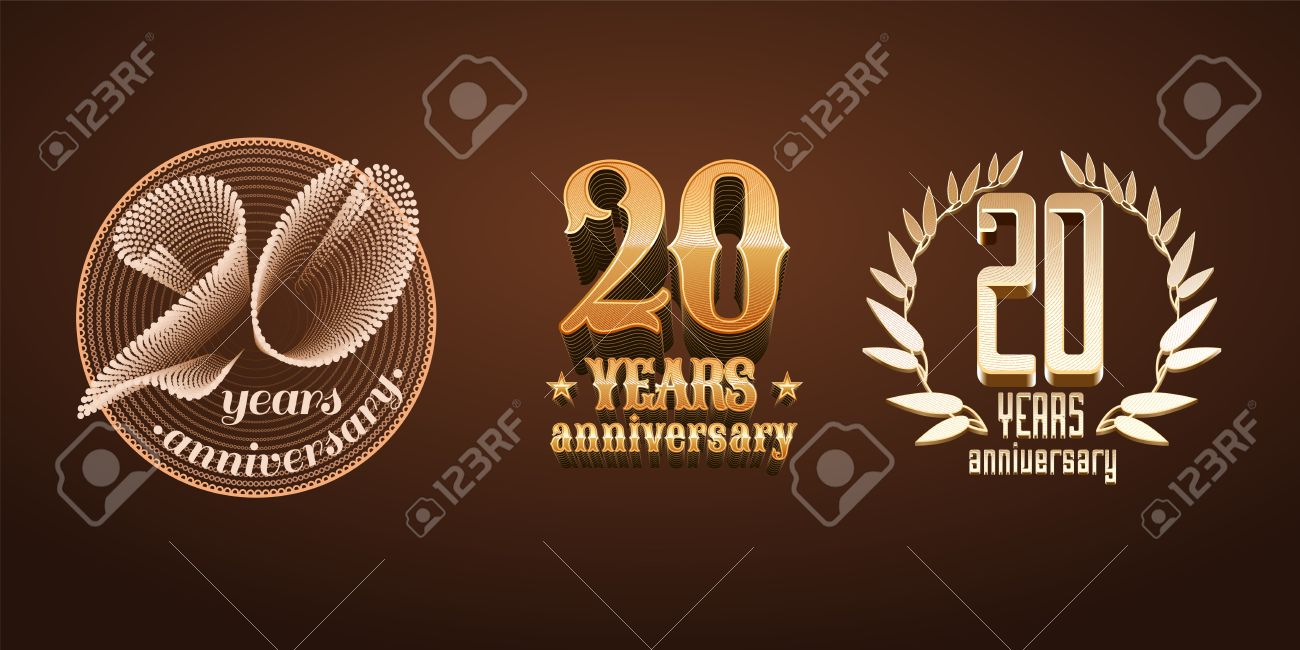 Anniversario Di Matrimonio 20.Vettoriale 20 Anni Insieme Anniversario Di Icona Il Numero 20