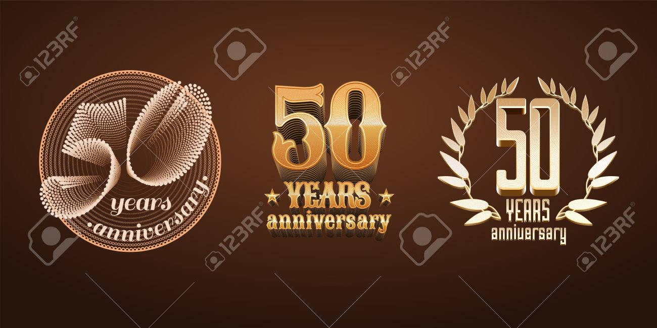 50 years anniversary set of icon number 50th birthday marriage 50 years anniversary set of icon number 50th birthday marriage or graduation anniversary biocorpaavc Choice Image
