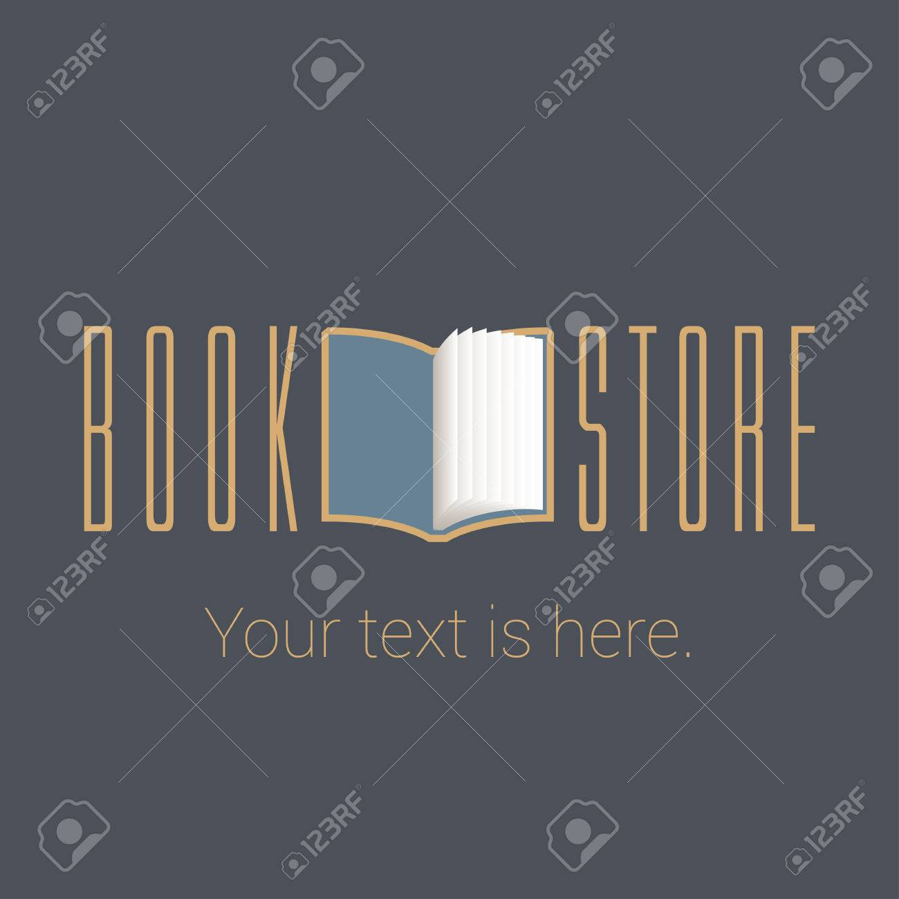 Bookstore, Bookshop Vector Emblem, Sign, Symbol, Icon. Template ...