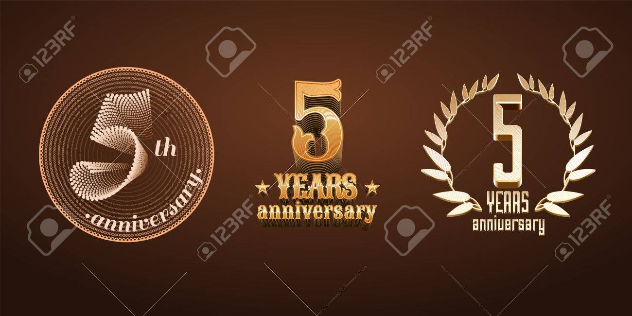 5 years anniversary set of vector icon number 5th birthday 5 years anniversary set of vector icon number 5th birthday marriage or biocorpaavc Gallery